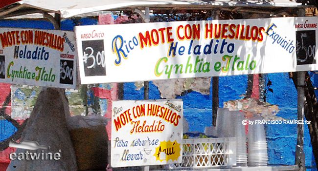 During warm weather, Chileans have an internal thermometer that soars with the mercury in the afternoon. Head out into the downtown area and carritos hawking mote con huesillo are on just about every corner. It's the ice cold juice made from sundried peaches that make this drink magic.