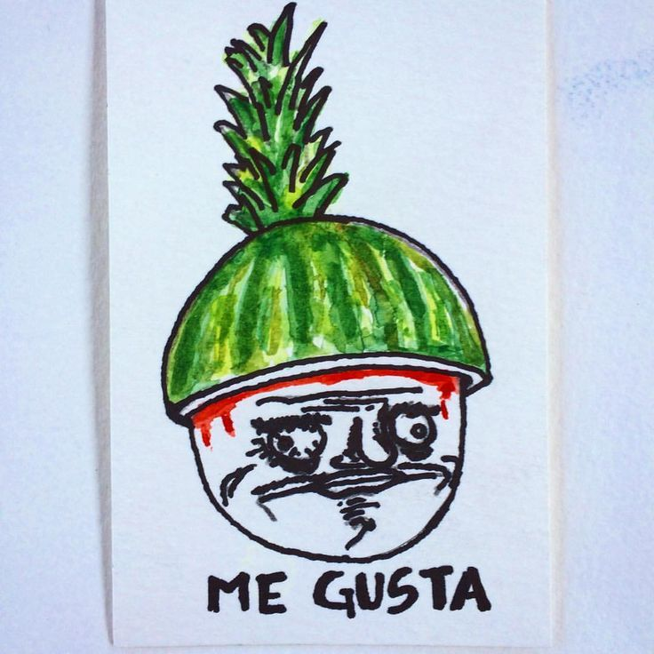 "36 Likes, 1 Comments - Instafranz (@franzbook) on Instagram: ""#megusta #watermelon #meme #instafranz #watercolor #drawing"""