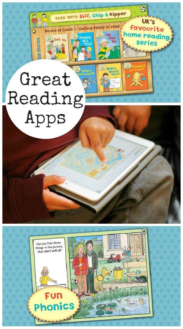 Great reading apps with Biff, Chip and Kipper from the Oxford Reading Tree series to help build literacy and early reading skills