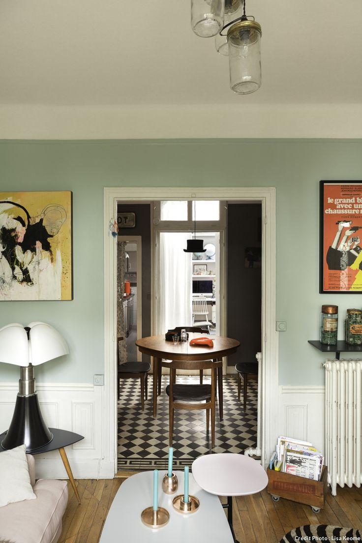 Carrelage Maison Bourgeoise #14: Les 25 Meilleures Idées De La Catégorie Sol En Damier Sur Pinterest |  Cuisine Vintage, Armoires De Cuisine Turquoise Et Cuisines Jaunes