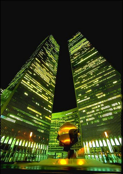 The Twin Towers..I spent a thosand nights watching those lights, wondering what was going on inside...