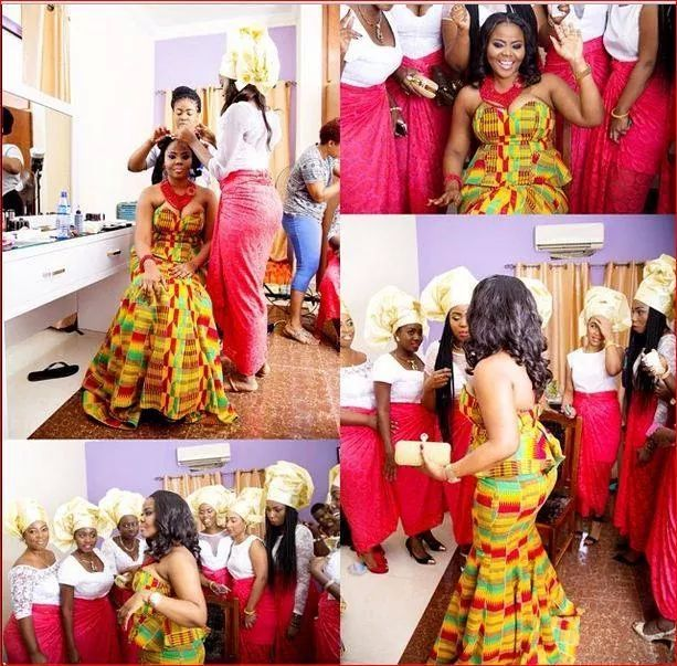 Ghanaian  wedding ~African fashion, Ankara, kitenge, African women dresses, African prints, African men's fashion, Nigerian style, Ghanaian fashion ~DKK
