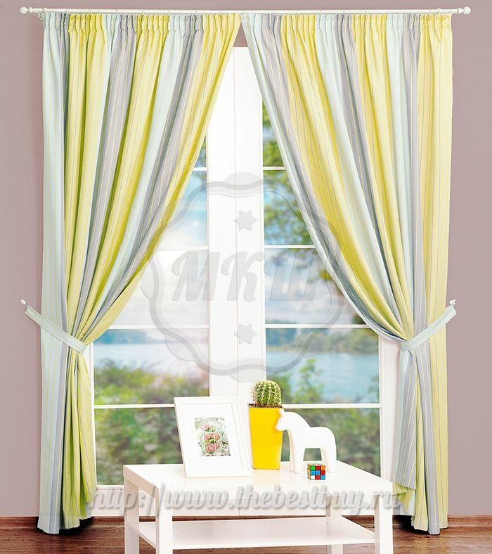 Шторы для гостиной: Тампа (арт. BL01-78-01)  - (190х270)х2 см.  - (Возможна высота 250 см.) - желтые - АКЦИЯ ВЕСНЫ 2015 года!