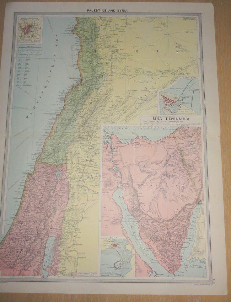 SYRIA PALESTINE SINAI IRAQ