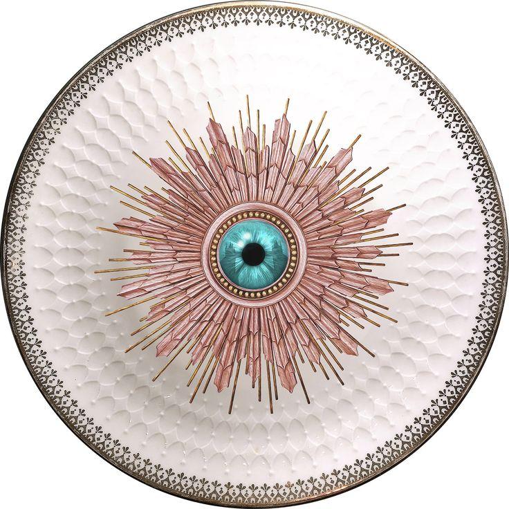 London Burst - Eye - Vintage Porcelain Plate - #0588 by ArtefactoStore on Etsy
