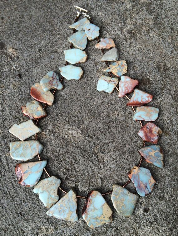 The Sky is falling: A beautiful statement necklace by CustardFox