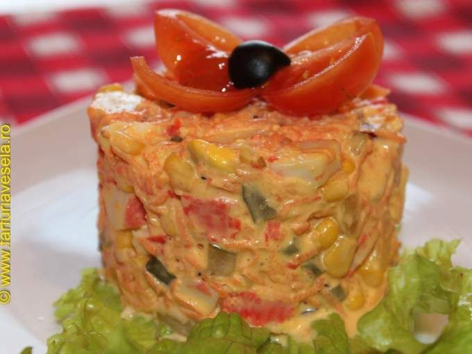 Salata de surimi (reteta video)