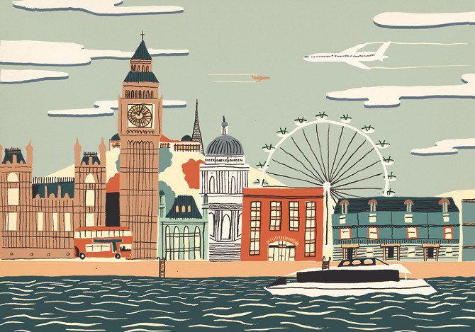London.   15 Beautiful Hand-Drawn Illustrations Of Cities Around The World