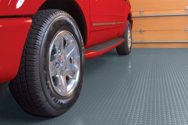 BLT Diamond Pattern Garage Floor Mat Covering - thick, durable protection for your garage floor! floor covering,garage mat, garage car mat, ...