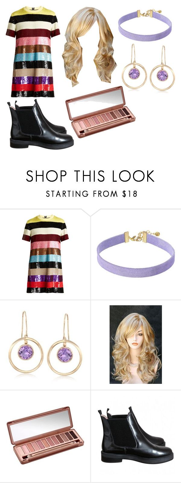 """Untitled #30"" by matilde94 on Polyvore featuring Ashish, Vanessa Mooney, Ross-Simons, Urban Decay and ASOS"