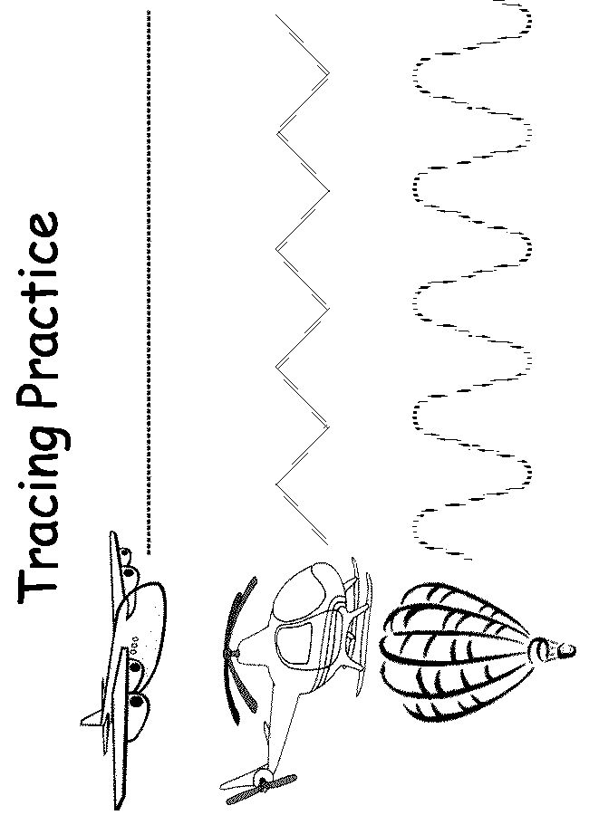Preschool Tracer Worksheet Air Preschool Fine Motor