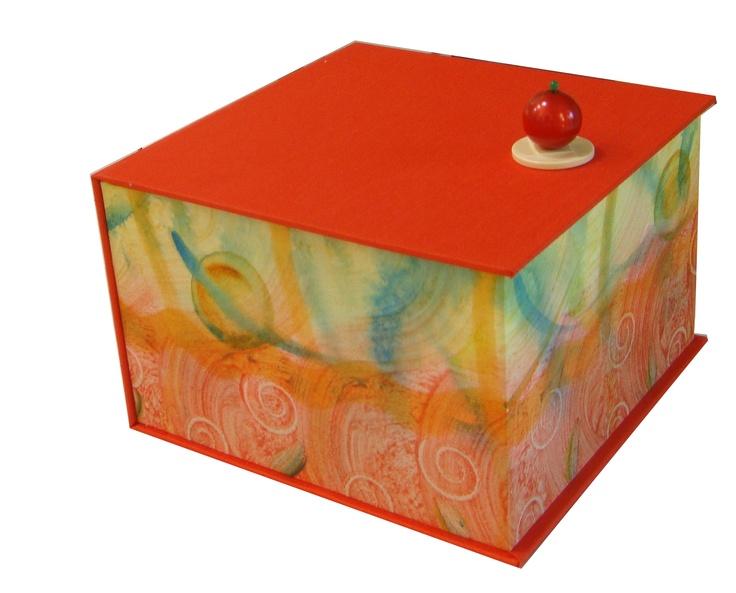 paste paper wrap flip top box by @Annelies van Dommelen