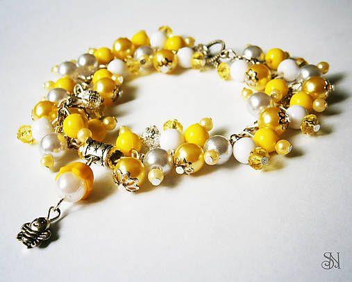 Žltý náramok s včielkou - www.sperkysan.sk