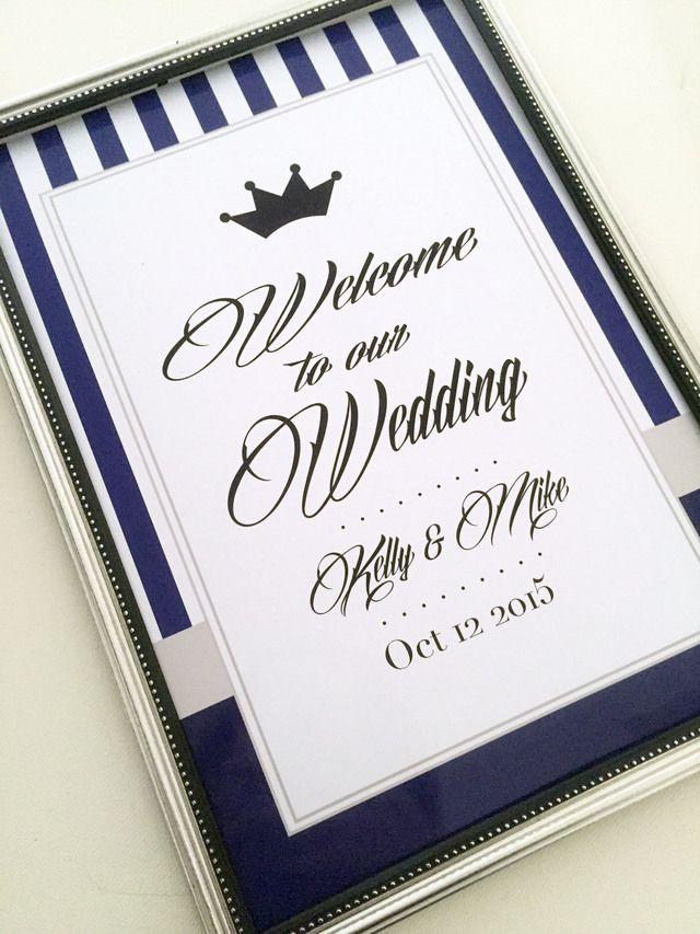濃いめのネイビーが大人っぽい雰囲気♪モダンな結婚式におすすめしたいネイビーのウェルカムボードまとめ一覧♪