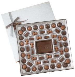 112 Piece Milk & Dark Chocolates w/ 4 oz. Chocolate Centerpiece