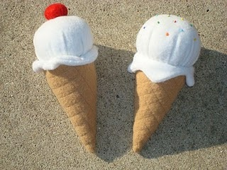 felt ice cream. similar pattern as cupcakes.