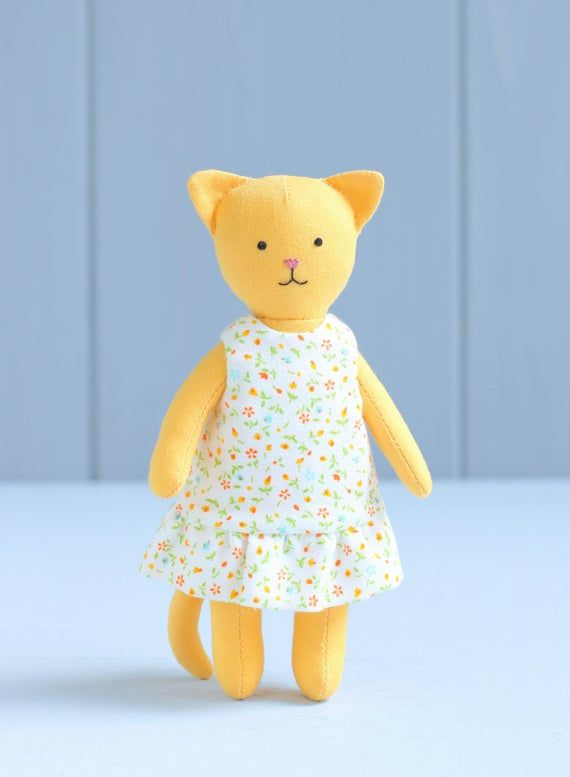 PDF Mini Cat with Set of Clothes Sewing Pattern — DIY ...