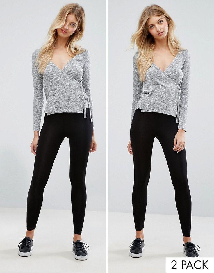 New Look 2 Pack Leggings - Black
