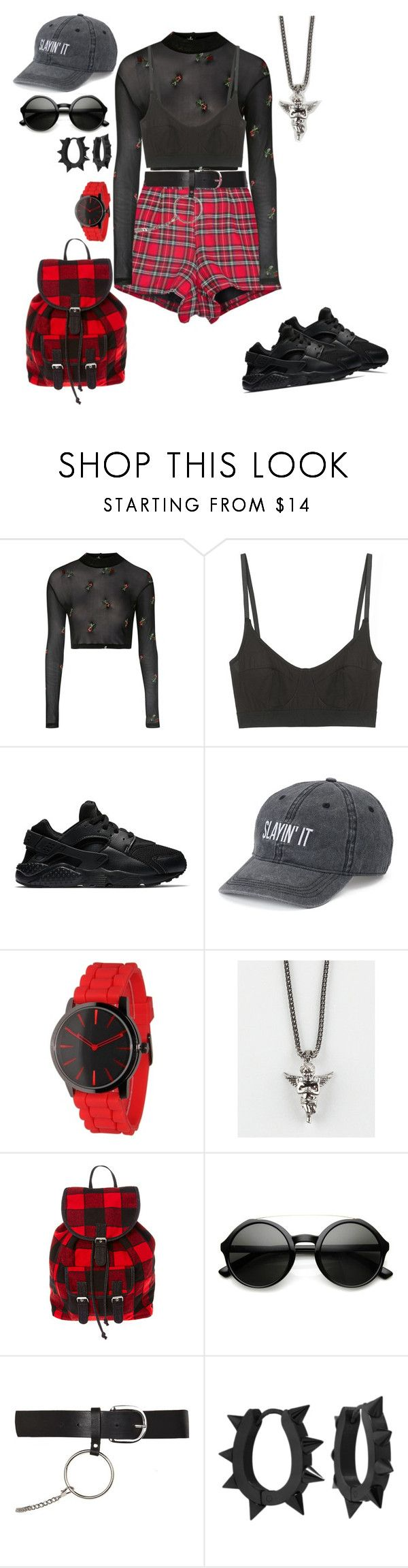 """""""Dance practice"""" by ayeeeitsfatso on Polyvore featuring Motel, Base Range, NIKE, SO, Olivia Pratt, The Gold Gods, ZeroUV, Topshop and West Coast Jewelry"""