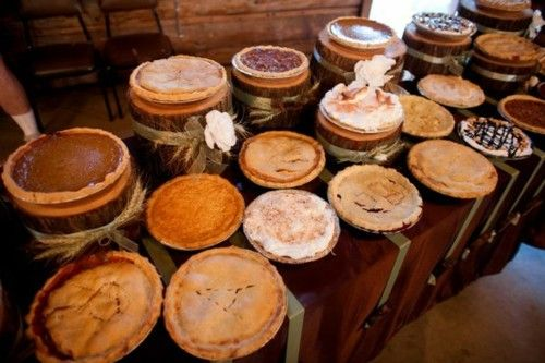 pies for the wedding reception.
