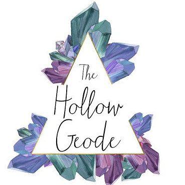 The Hollow Geode Logo Crystal Logo Geometric Branding