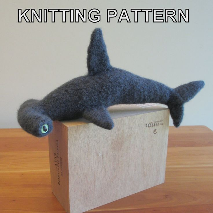 Sharks, Toys and Knitting patterns on Pinterest