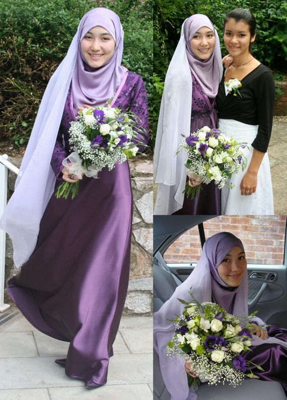 Muslimah wedding dress.