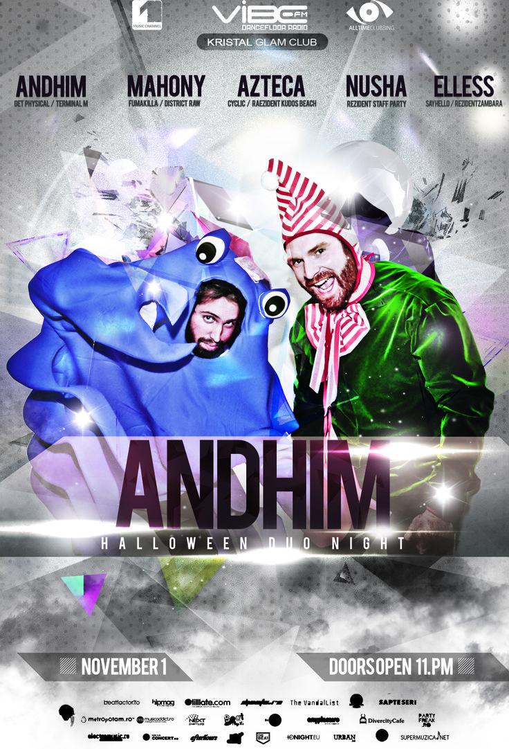 AndHim - Halloween duo night - Kristal Glam Club - November 2013