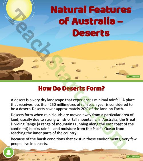 Teaching Resource: A 14 slide editable PowerPoint template to use when introducing Australia's deserts.