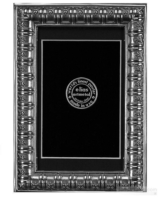 BIBLIOTHEQUE Fine Silver Pewter 4x6 / 3½x5½ By Elias Artmetal® Picture  Frames Photo Albums