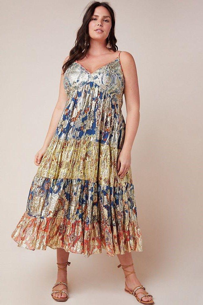 Bohemian Plus Size Floral Maxi Dress