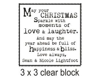 Christmas Saying rubber stamp perfect for Hand stamped christmas cards --5682