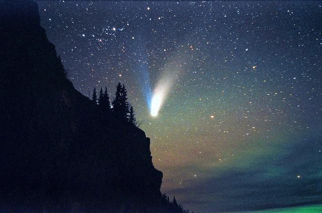 northern lights comet - photo #22
