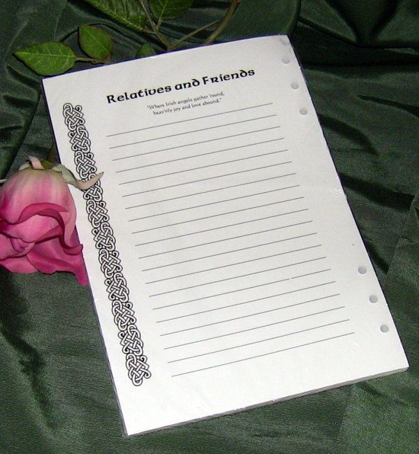 irish funeral register book 25 sign in extra page pack irish