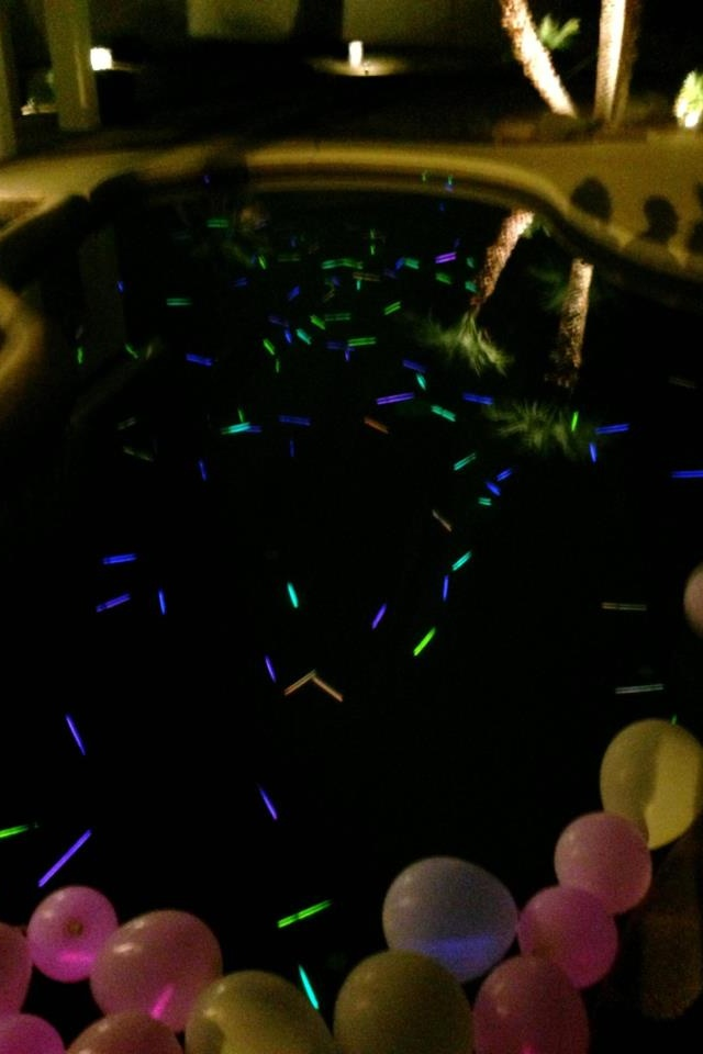 Rave Pool Dollar Store Glow Sticks In The