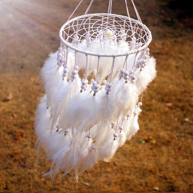 8 di colore di Nuovo modo originalità appeso Piuma perla Dreamcatcher Campanelli Eolici Stile Indiano Dream Catcher Regalo
