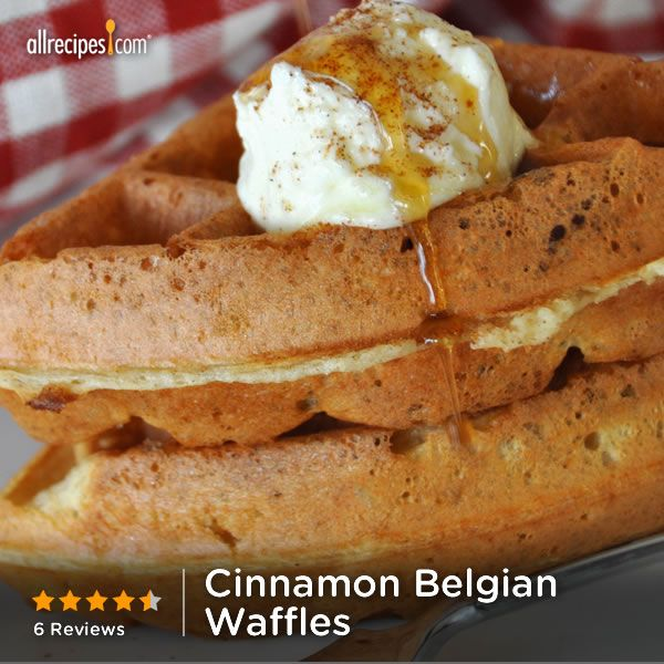 August 24- National Waffle Day | Cinnamon Belgian Waffles