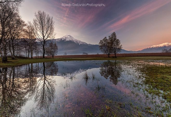 Lake Como reflections by Alfredo Costanzo