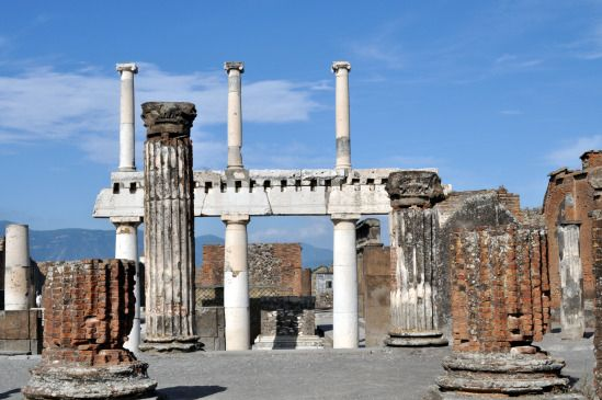 View from the Basilica, Pompeii - Pictures of Pompeii #italy #pompeii #travel