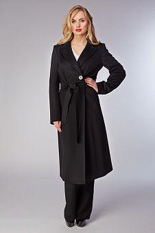 Товар Классическое черное пальто с английским воротником Teresa Tardia