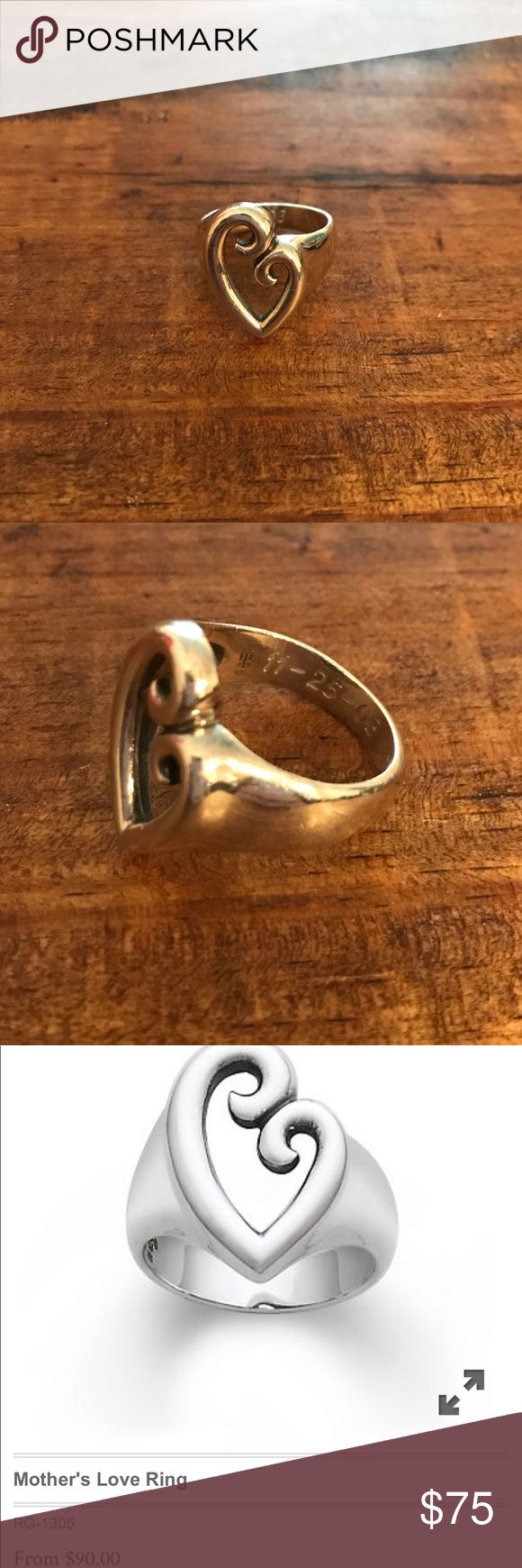 James Avery Ring Mothers love ring. The ring is engraved on the inside. James Avery Jewelry Rings