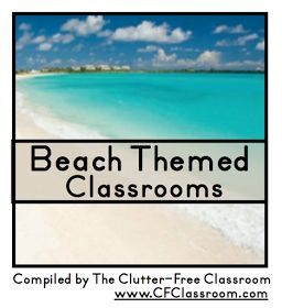 Clutter-Free Classroom: Beach Themed Classrooms {decor ideas, printables, tips, photos, and more}