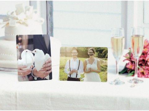 Acrylglas-Aufsteller mit Foto