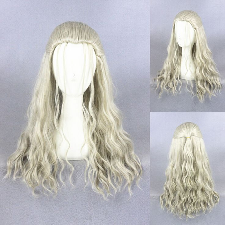 24inch Light Blonde Avengers Age of Ultron Long Wavy Wig Cosplay For Costume Party Heat Resistant Synthetic Thor Hair Pelucas