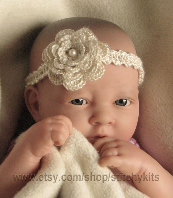 Crochet pattern for Baby Headband child by KeepersCottageCrafts