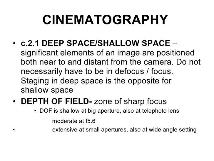 Cinematography essay