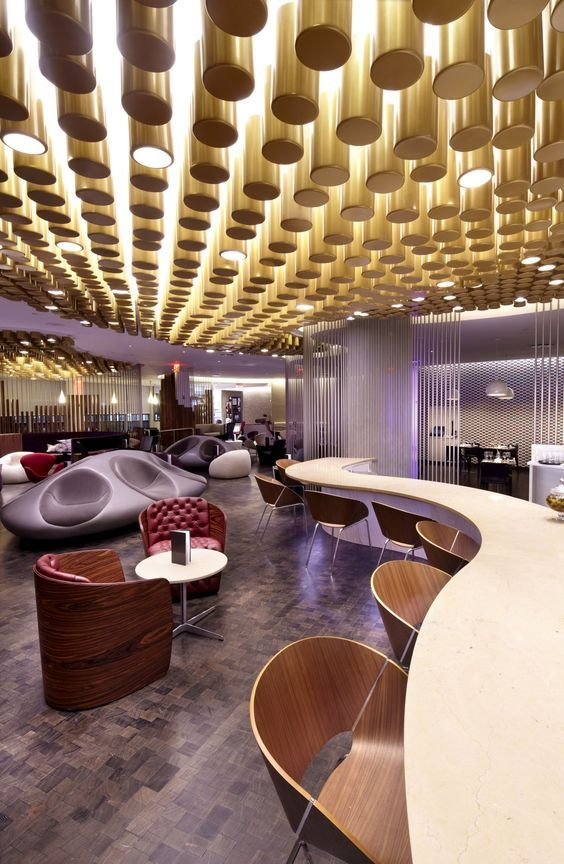 Virgin Upper Class Lounge at JFK Airport | Airport lounge | Contract furniture #airportlounge #contractfurniture  Read more at: www.brabbucontract.com