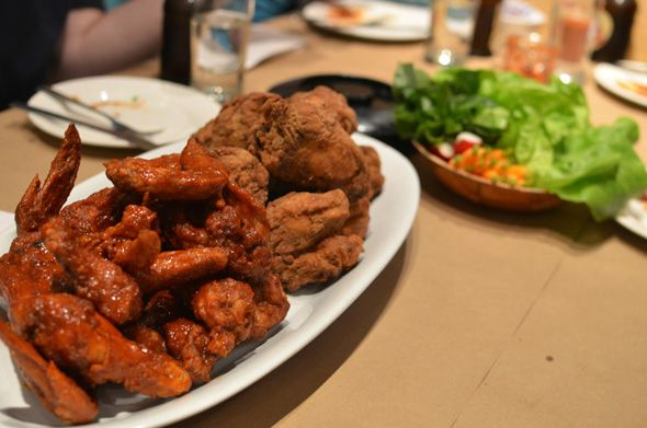 The Fry (4864 Yonge St., North York). When you're craving wings, nothing beats Korean fried chicken. Their half and half chicken is the way to go!