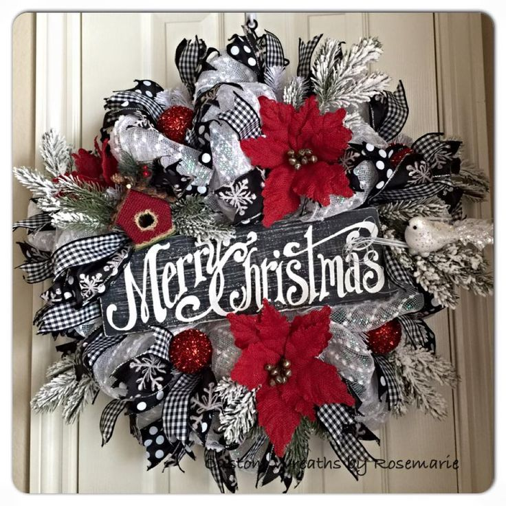 1000+ ideas about Christmas Mesh Wreaths on Pinterest | Mesh ...