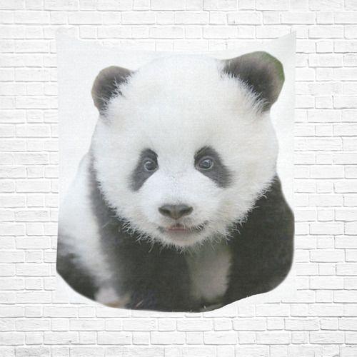 "Panda Bear Cotton Linen Wall Tapestry 51""x 60"""